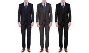 MDRN Uomo by Braveman Men's Slim-Fit 3-Piece Suit