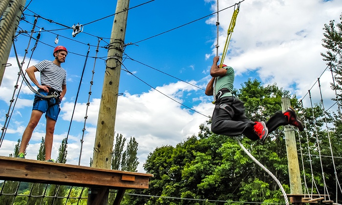 Adventura - Aerial Adventure Park: 2.5-Hour Aerial-Adventure-Park Package from Adventura (Up to 50% Off). Three Options Available.