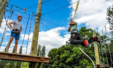 $100 for 2.5-Hr Aerial Adventure Park Visit with Woodinville Tasting Pass at Adventura for Two ($200 Value)
