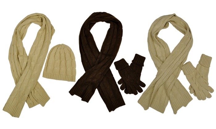 AquaStop Scarf Gift Set with Hat or Gloves: AquaStop Scarf Gift Set with Hat or Gloves. Multiple Colors Available. Free Returns.