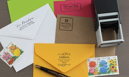 Personalized Self-Inking Stamps from 2712 Designs (Up to 57% Off). Four Options Available.