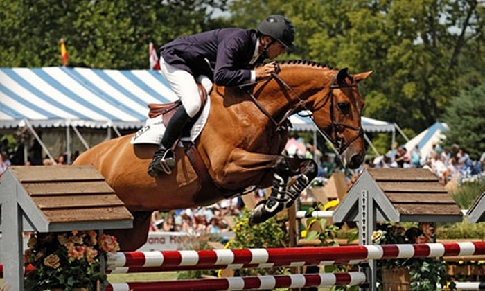 Traders Point Hunt Charity Horse Show and Country Fair - Eagle: Admission for 2 or 4 at Traders Point Hunt Charity Horse Show & Country Fair at Wild Air Farm on Aug. 6–11 (50% Off)