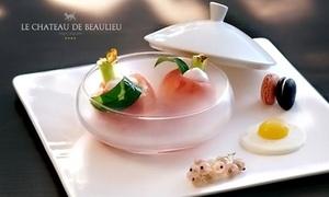 le Chateau de Beaulieu: Privilège gastronomique en 8 mets par le chef Marc Meurin dans son restaurant** du Château de Beaulieu**** à 199€ pour 2
