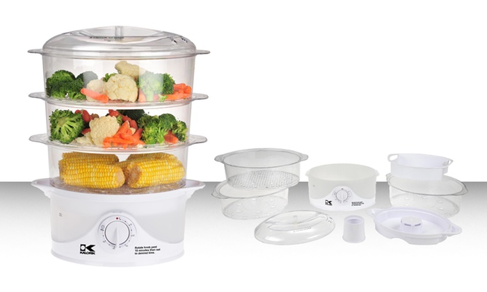 3-Tier Food Steamer: $34.99 for a 3-Tier Food Steamer ($54.99 List Price). Free Shipping and Returns.