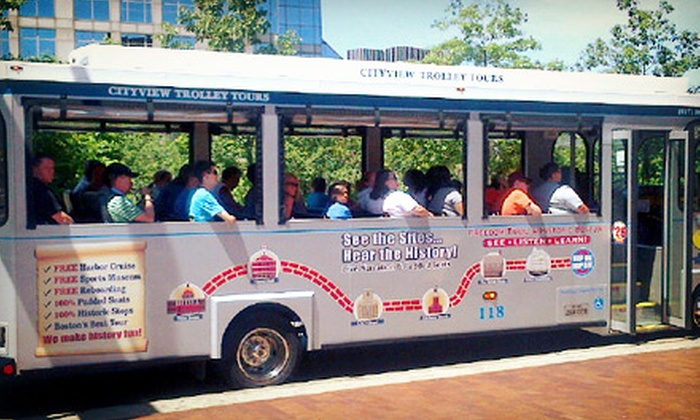 Cityview Trolley Tours - Boston: Trolley Tour, Harbor Cruise, and JFK Walking Tour for One, Two, or Four from CityView Trolley Tours (Up to 54% Off)