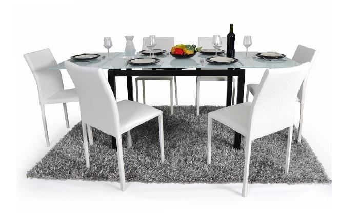 Table extensible et lot de 6 chaises empilables | Groupon Shopping