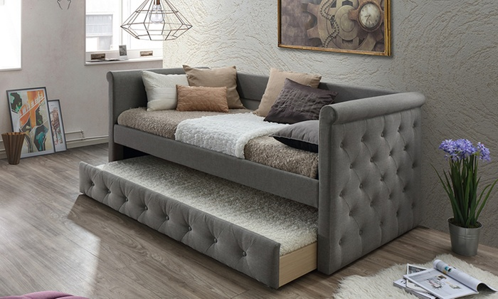 Up To 42 Off On Alena Tufted Daybed With Trundle