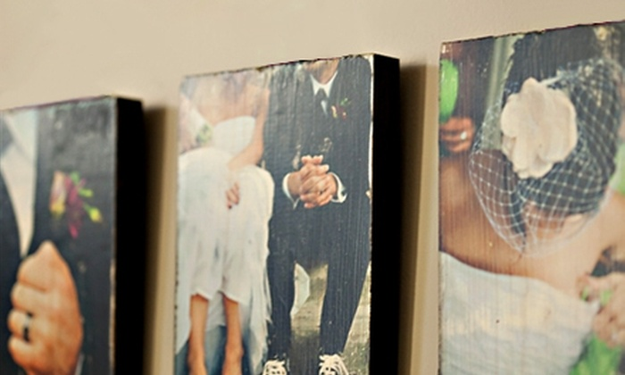 "PhotoBarn.com: $45 for Five 2""x2"" Photo Blocks, One 8""x10"" Photo Board, Three 5""x7"" Photo Boards ($95 Value)"