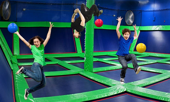 Rebounderz of Jacksonville - Jacksonville: One-Hour or Unlimited Jump-Time Package for Two or Four at Rebounderz of Jacksonville (Up to 46% Off)