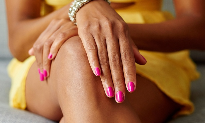 Gilmore's Nail Salon - Hudson: Shellac Manicure with Optional Pedi at Gilmore's Nail Salon (Up to 44% Off)