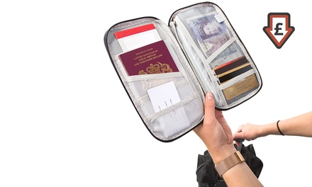 Passport and Document Travel Organiser in Choice of Colour