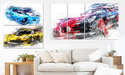 Single or Multipanel Canvas of Exotic and Muscle Supercars from $49.99-$89.99