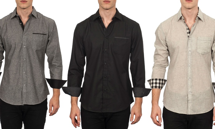 Warriors & Scholars Woven Men's Shirt