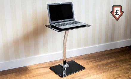 Casa Vida Glass Laptop Stand in Black