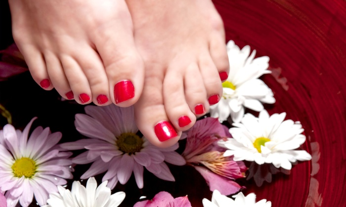 Cat d'Andria at Glitz Beauty Lounge - Santa Rosa: One or Three Spa Pedicures or Three Shellac Manicures from Cat d'Andria at Glitz Beauty Lounge (Up to 61% Off)
