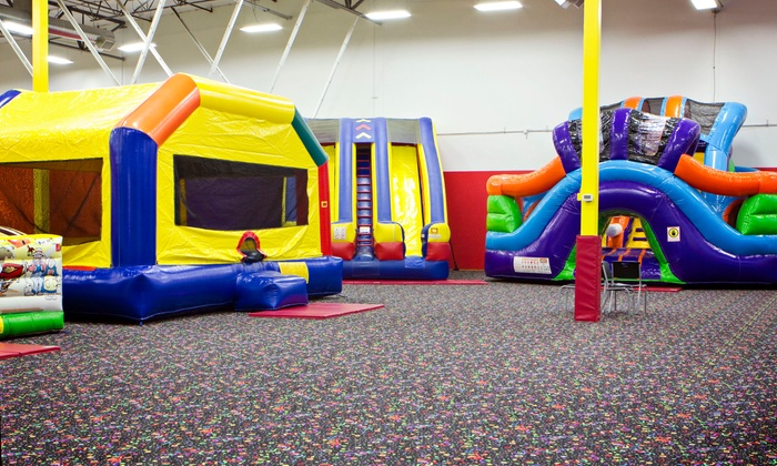 Super Jump Party Zone Auburn - South Auburn: 90 Minutes of Open Play for Two or Four Kids at Super Jump Party Zone Auburn (40% Off)