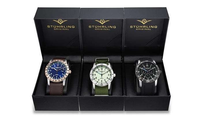 3-Pack of Stuhrling Original Men's Watches: 3-Pack of Stuhrling Original Men's Watches. Free Returns.