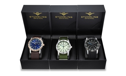 3-Pack of Stuhrling Original Men's Watches. Free Returns.
