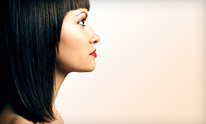 Sliice Salon - Schaumburg: Haircut with Option of Full or Partial Highlights, or Japanese Hair-Straightening at Sliice Salon (Up to 72% Off)