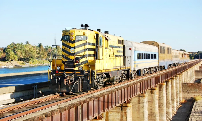 Sacramento RiverTrain - Riverside: Pumpkin Train Ride for One Adult or Child from Sacramento RiverTrain (38% Off). Six Options Available.