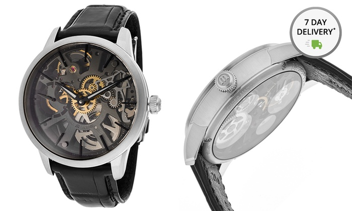 Men's Maurice Lacroix Masterpiece Watch: Men's Maurice Lacroix Masterpiece Watch with Skeleton Dial and Genuine-Alligator Strap. Free Shipping and Returns.