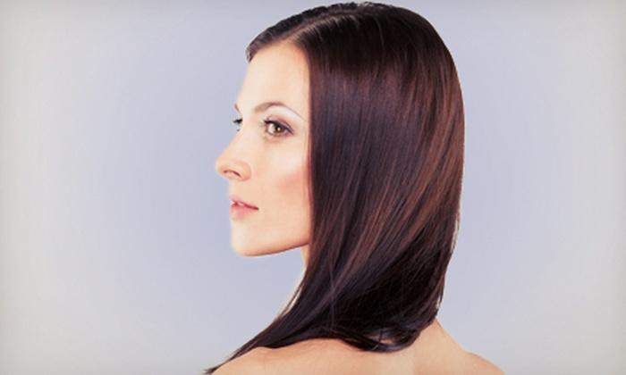 Hair Las Olas - Colee Hammock: Haircut and Color Retouch or Keratin Treatment, Haircut, and Optional Highlights at Hair Las Olas (Up to 60% Off)