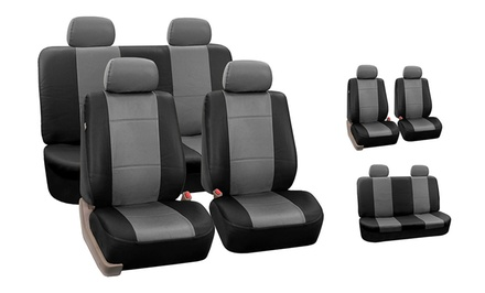 Full Set of Faux-Leather Seat Covers