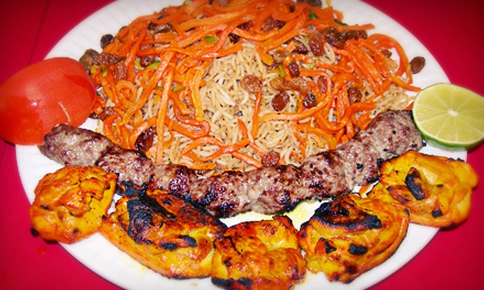 Afghan Cuisine - North Central: Afghan Dinner for Two or Four, or Lunch for any Group Size at Afghan Cuisine (Half Off)
