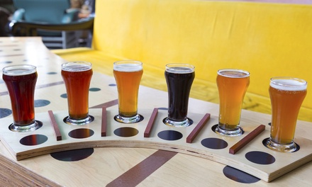 Beer and Cheese Tasting for Two or Four or One Growler at Books & Brews (Up to 35% Off)