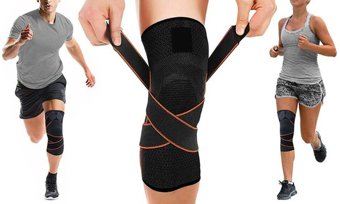 Up to Eight Knee-Compression Sleeves with Adjustable Straps from £4.79