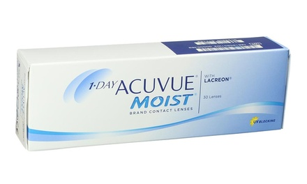 1-Year Supply of Acuvue 1-Day Moist or TruEye Contacts at OptiContacts.com from $450–$615