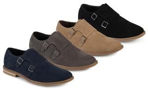 Vance Co. Men's Faux Leather Double Monk Strap Shoes