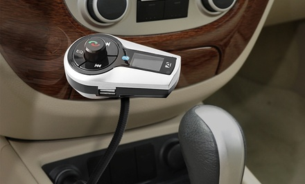 Aduro Car Stereo Bluetooth FM Transmitter with Remote