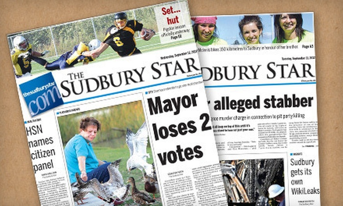 Sudbury Star - Sudbury / North Bay: $109 for 52-Week Monday–Saturday Subscription to Sudbury Star ($211.34 Value)