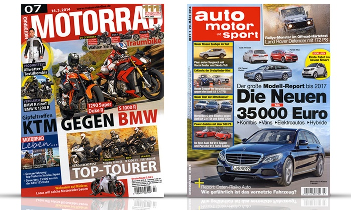 zeitschriften abo auto motorrad groupon goods. Black Bedroom Furniture Sets. Home Design Ideas