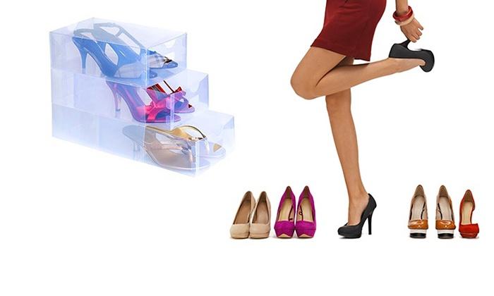 5 cajas de zapatos transparentes groupon goods - Cajas transparentes para zapatos ...