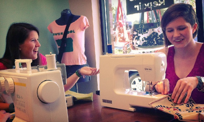 Redhanded Sewing Studio - Apex: BYOB Tote-Making Class for One or Two at Redhanded Sewing Studio (Up to 54% Off)