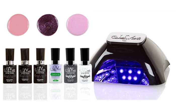 UV Nails LED Lamp And Gel Nail Polish Set: UV Nails LED Lamp ...
