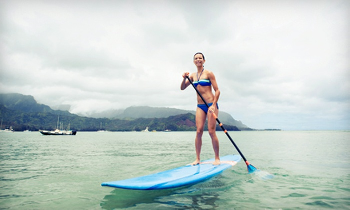 Paddle Surf RI - Watch Hill: One-Hour Beginner Standup-Paddleboarding or Surfing Lesson for Two or Four from Paddle Surf RI (Up to 59% Off)