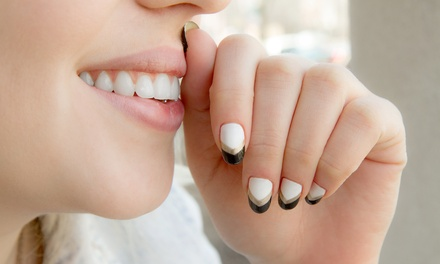 Two Gel Manicures or One Full Set of Acrylics with Gel Polish with Chastity at The Hair District (Up to 52% Off)