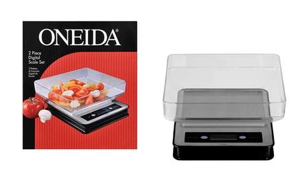Oneida 2 piece digital kitchen scale set groupon for Kitchen set groupon