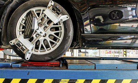 $49 for Wheel Alignment, Tire Rotation, and Wheel Balancing at Family Automotive & Tires ($110 Value)