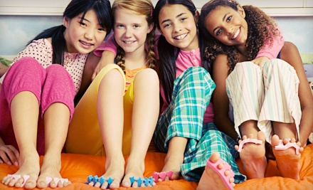 Kid's Spa Packages at Flutter: A Day Spa & Salon for Kids (Up to 61% Off). Three Options Available.