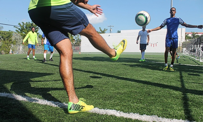 Elite U Fitness - Coral Way: One 60-Minute Soccer Field Rental for 4-on-4, 5-on-5, 6-on-6, or 7-on-7 Games at Elite U Fitness (Up to 48% Off)