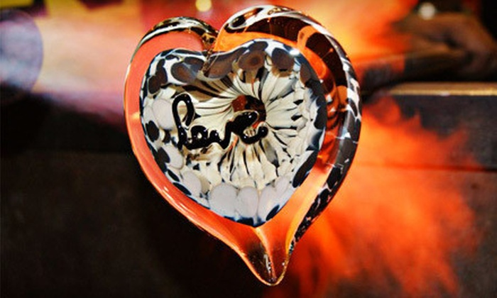 Uptown Glassworks - Industrial District East: Heart- or Flower-Themed Glass-Blowing Experience for One or Two at Uptown Glassworks (52% Off)