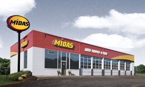 Midas : Full-Service Conventional or Full Synthetic Oil Change, or Brake Pads with Installation at Midas (Up to 73% Off)