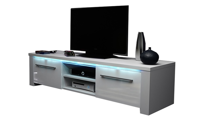 meuble tv led messa groupon. Black Bedroom Furniture Sets. Home Design Ideas