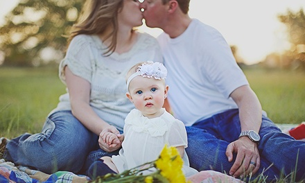 30- or 90-Minute On-Location Family Photo Session from Kristin Ann Photography (Up to 72% Off)