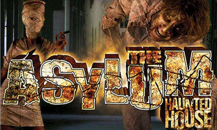 The Asylum Haunted House - Park Hill: $19 for a VIP Visit to The Asylum Haunted House and Zombieland Haunted House (Up to $35 Value)