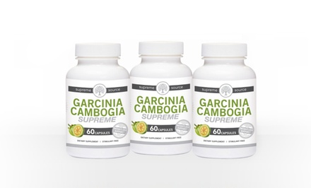Buy 2 Get 1 Free: Supreme Source Garcinia Cambogia with 60% HCA